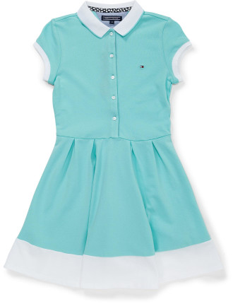AME COLORBLOCK POLO DRESS S/S