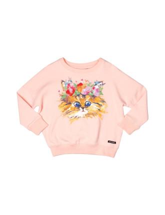 Cat's Meow Sweatshirt (Girls 3-8 Years)