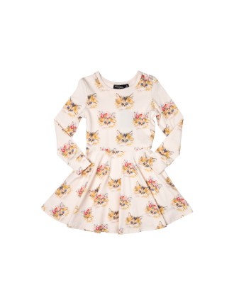 Cat's Meow Waisted Dress (Girls 2-7 Years)
