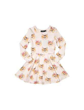 Cat's Meow Waisted Dress (Girls 3-8 Years)