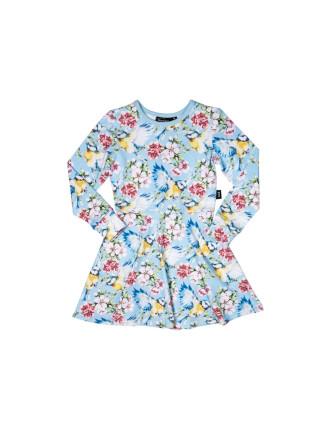 Cherry Blossoms Waisted Dress (Girls 3-8 Years)