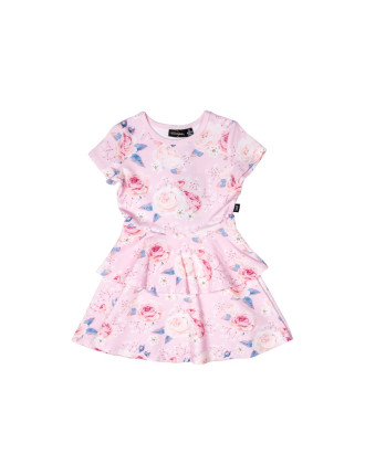 English Rose Double Frill Waisted Dress (Girls 3-8 Years)