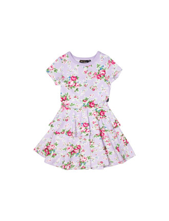 Maeve Print Double Frill Dress (Girls 3-8 Years)