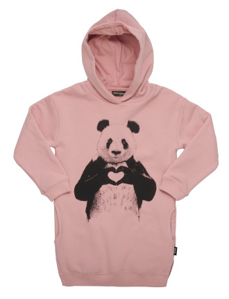 Panda Love Hoodie Dress (Girls 3-8 Years)