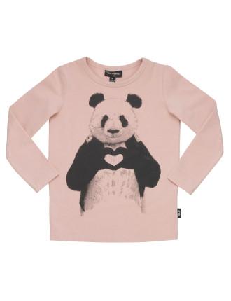 Panda Love L/S T-Shirt (Girls 3-8 Years)