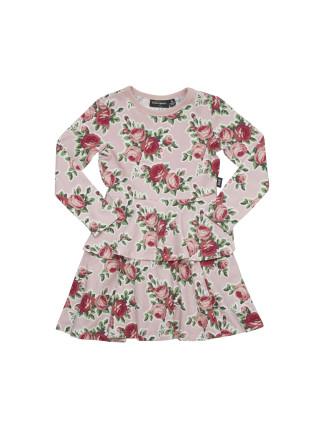 Rose Garden Double Frill Waisted Dress (Girls 3-8 Years)