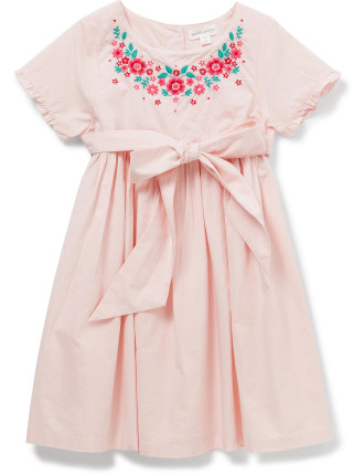 ROSE GARDEN SS DRESS (POPLIN)