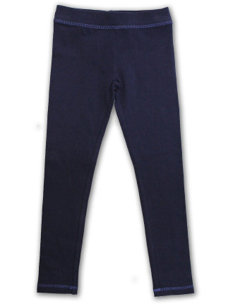 Plain Legging With Lurex Stitching
