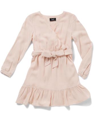 Lila Mock Wrap Dress