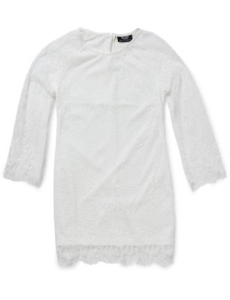 Scallop Lace Shift Dress