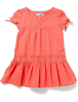 Lace Dress - Coral