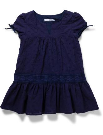 Lace Dress - Navy