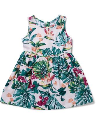 Print Dress With Pockets