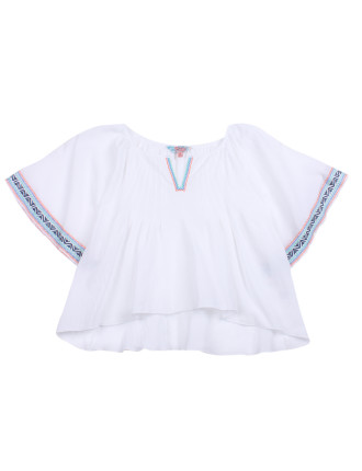 Santa Monica Embroidered Top