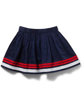 Placed Stripe Skirt
