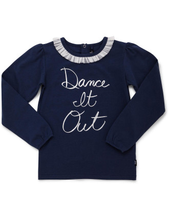 Dance It Out Ls Tee With Lace