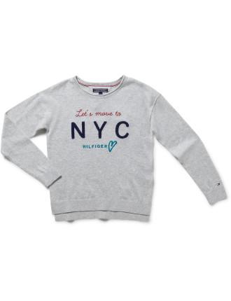 Girls Embro Cn Sweater L/S