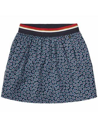 Paisley Crepe Skirt