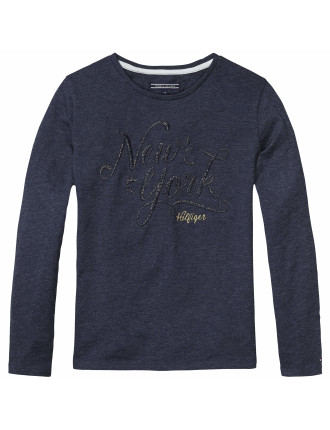 Girls Holiday Cn Knit L/S