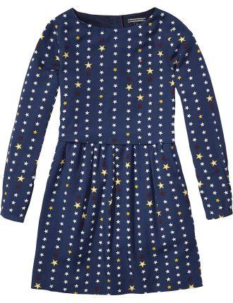 Star Rayon Dress L/S