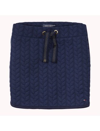 Cable Quilted Skirt