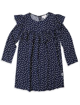 Dominos Frill Dress Spot