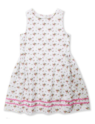 Iris Print Dress