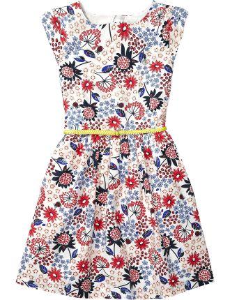 Multi Flower Dress S/S
