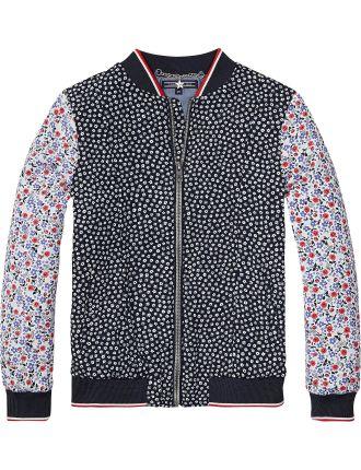 Thkg Flower Block Varsity Jacket