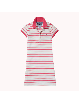 Ame Girls Stripe Polo Dress S/S