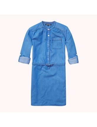 Drapy Indigo Dress L/S