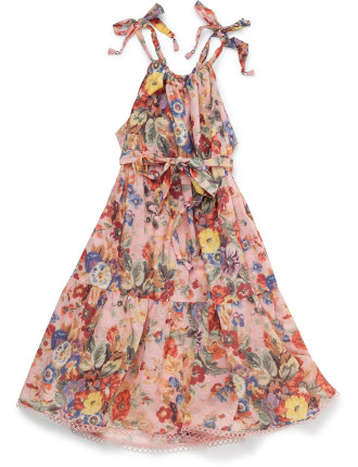 Lovelorn Floral Tie Dress