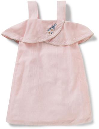 Girls Voile Ruffle Dress