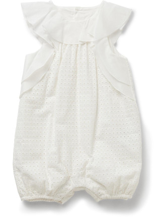 Baby Girls All In One Woven Romper