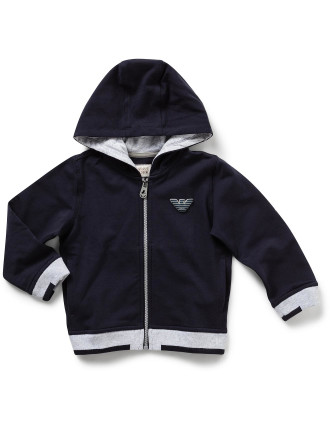 Boys Long Sleeve Fz Hood Track Top