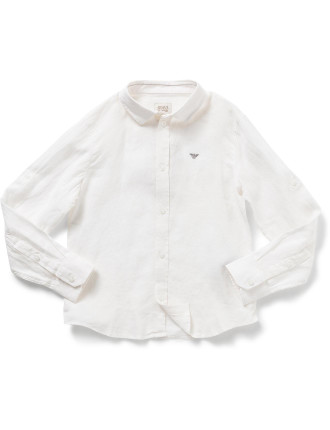 Boys Woven Shirt With Logo
