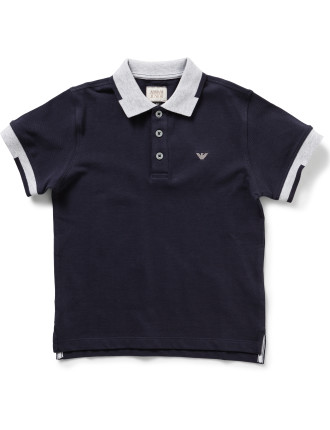 Boys Short Sleeve Core Polo Shirt