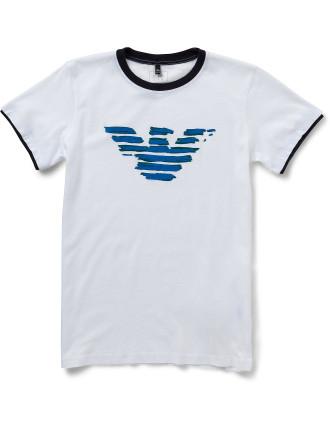 Boys Short Sleeve Logo Tee