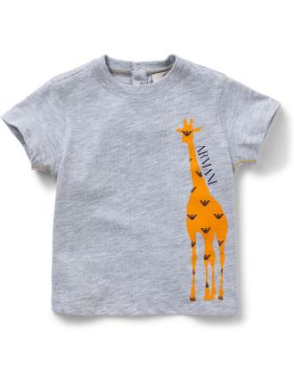 Boys Short Sleeve Animal Print Tee