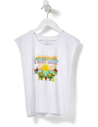 Girls Round Neck T-Shirt (4Y-8Y)