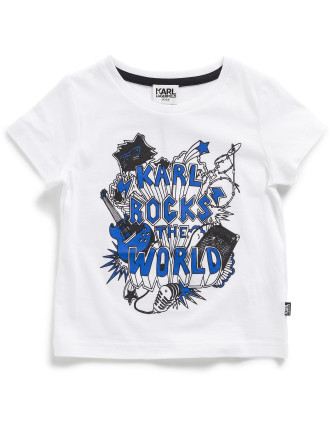 Boys Karl Rocks World Tee (2-6Y)