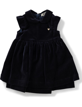 Velvet Dress with Peter Pan Collar