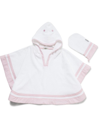 Hooded Towel with Bath Mit