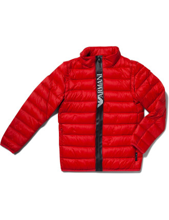 Puffer Jacket with Detachable Sleeves