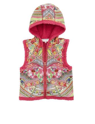 Kids Zip Front Vest W/ Hood