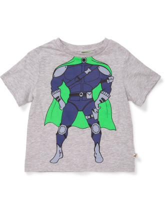 Arrow Tee W/Super Hero Print