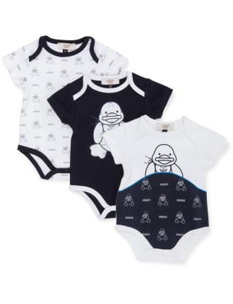 3PC SHORT SLEEVE ROMPERS