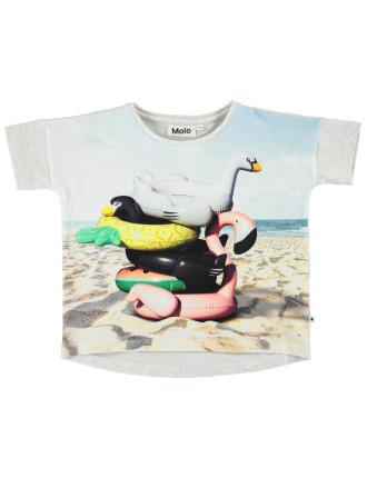 Beach Animals T-shirt(4-6 Years)