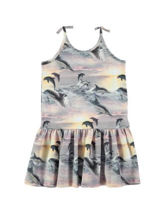 Dolphin Sunset Dress(4-6 Years)
