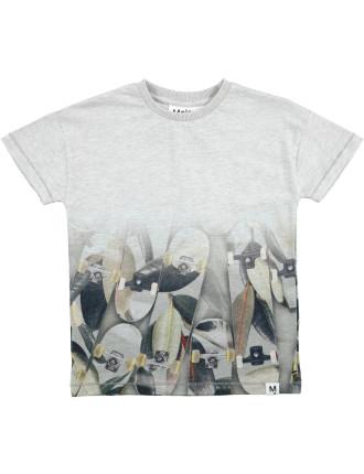Light Grey Melange T-shirt(8-12 Years)